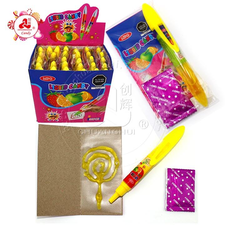 Liquid Jam Pen, papiers de riz collants avec des bonbons à éclater