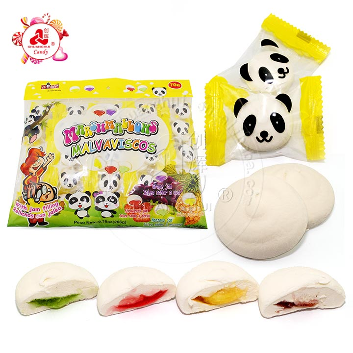 Panda Shaped Mini Marshmallow/Fruit jam filling Marshmallow