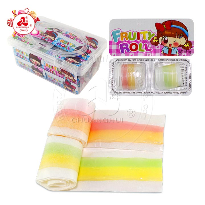 10g 2pcs Gummy Jelly Roll Candy in tablet box
