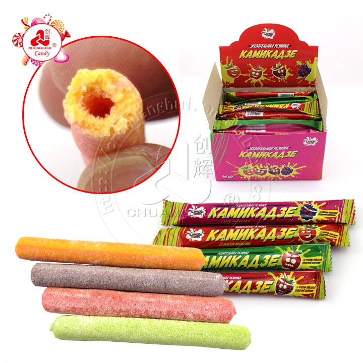 10g Sour powder filled bubble gum stick