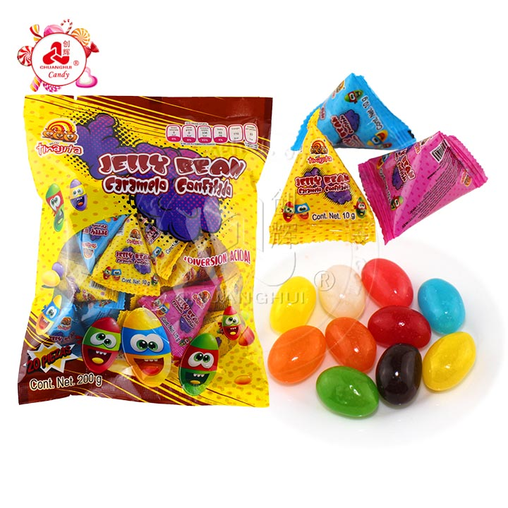 Good Quality Multi-colorful Fruits Flavor jelly bean Candy In triangle bag Manufacturers, Good Quality Multi-colorful Fruits Flavor jelly bean Candy In triangle bag Factory, Supply Good Quality Multi-colorful Fruits Flavor jelly bean Candy In triangle bag