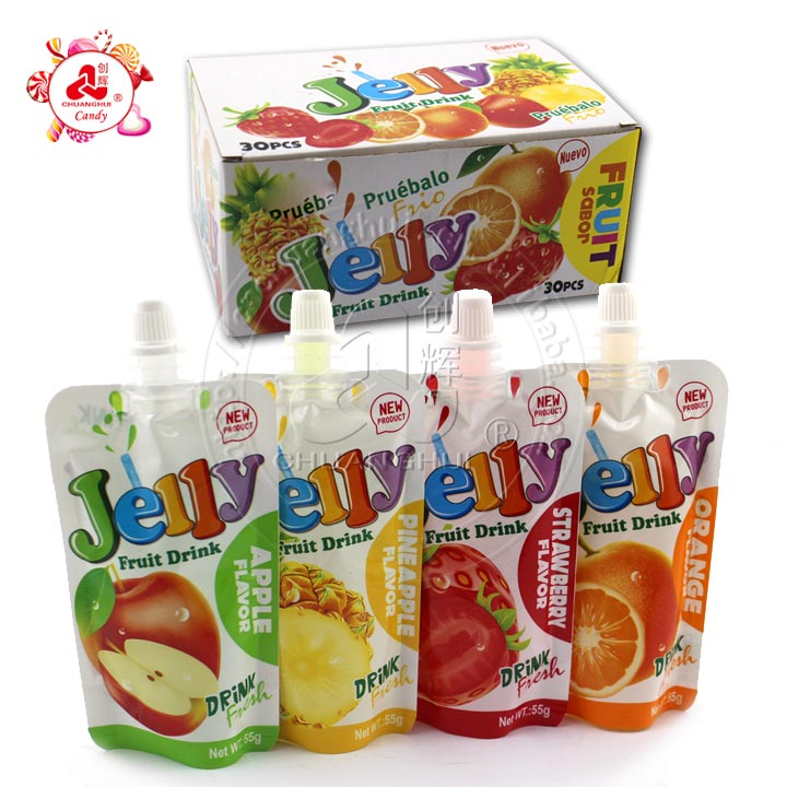 55g Fruity Sucking jelly Drink Gelée en sac
