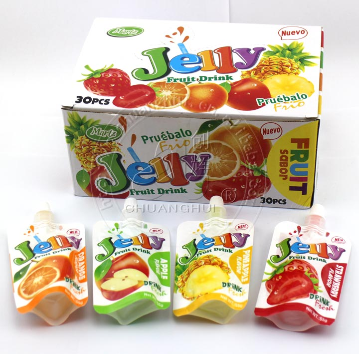 55g Fruity Sucking jelly Drink Bagged Jelly Manufacturers, 55g Fruity Sucking jelly Drink Bagged Jelly Factory, Supply 55g Fruity Sucking jelly Drink Bagged Jelly