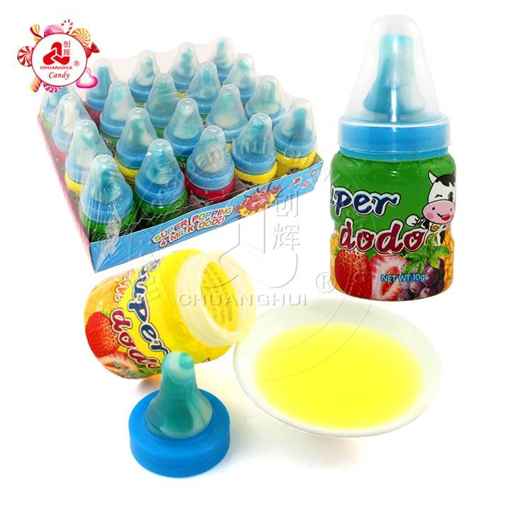 Bonbon dur sucette sucette avec confiture de fruits Bonbon liquide
