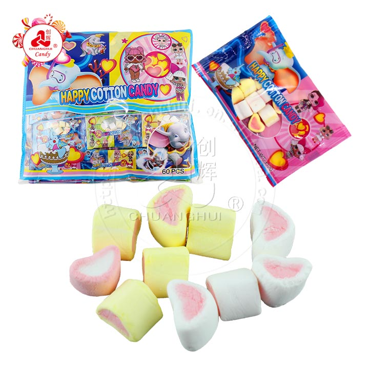 8g strawberry happy catton Marshmallow candy in bag