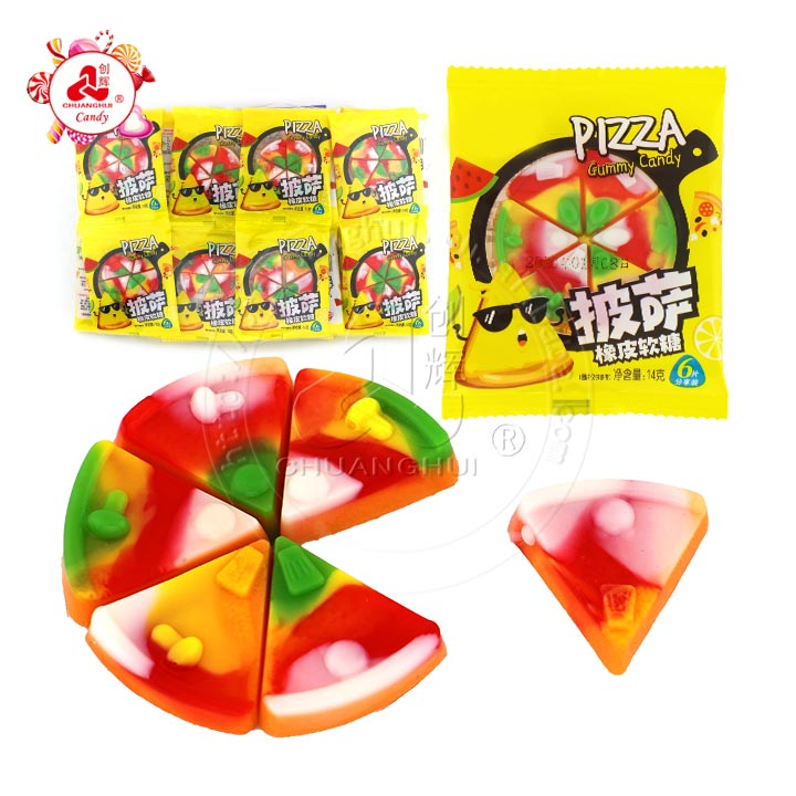 Halal Fruit flavor Pizza Gummy Candy soft candy