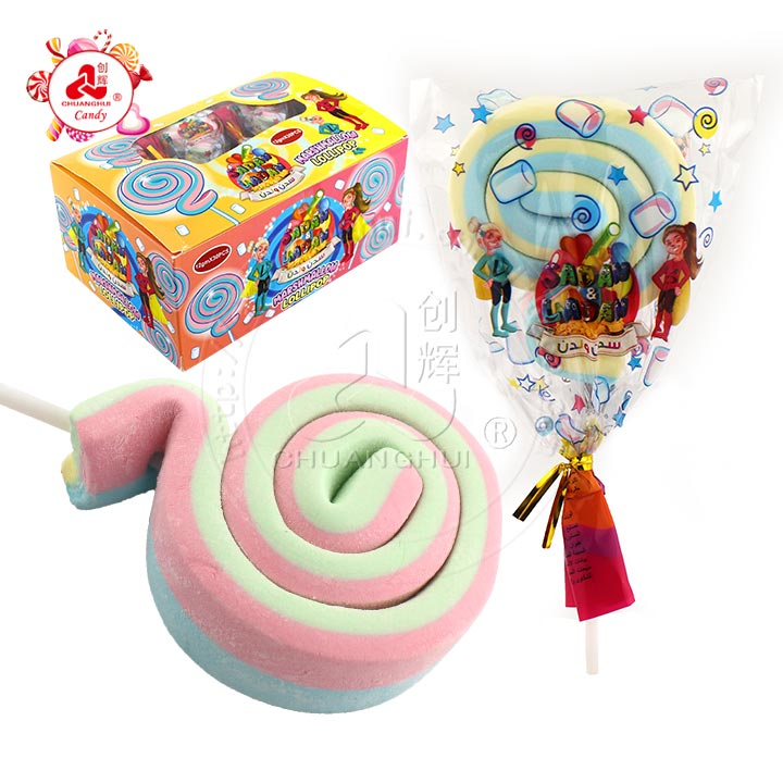 Rainbow Marshmallow Lollipop Double Colors Marshmallow