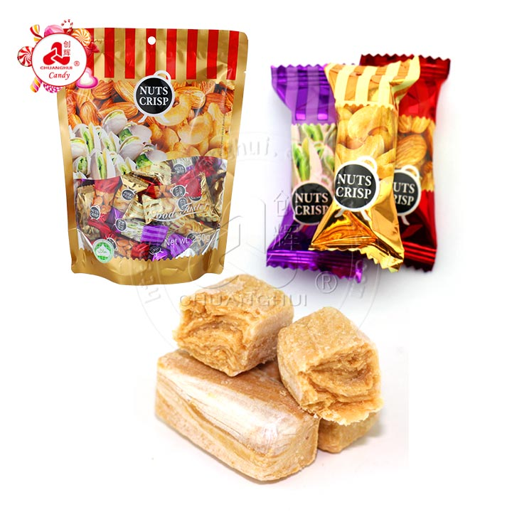 250g Nuts Crisp Peanut Candy with Cashew nut/Pistachio/Almond Flavors