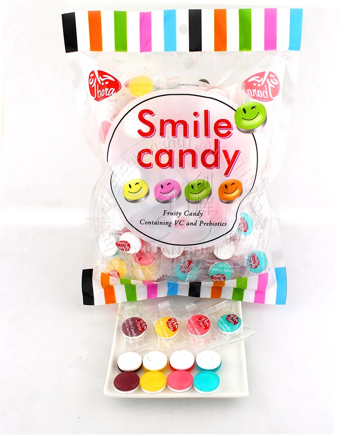 2 in 1 Smile hard candy with sour sobitol sugar free press candy, fruity containing VC vitamin Manufacturers, 2 in 1 Smile hard candy with sour sobitol sugar free press candy, fruity containing VC vitamin Factory, Supply 2 in 1 Smile hard candy with sour sobitol sugar free press candy, fruity containing VC vitamin