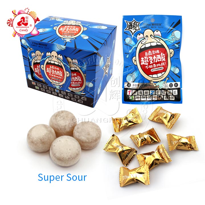 2019 new style super sour cola hard candy