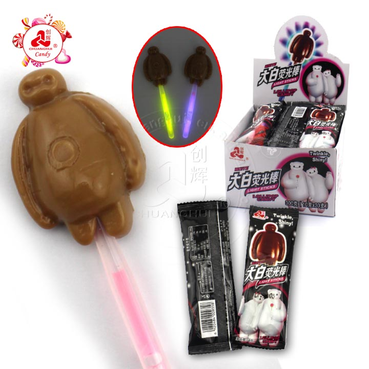 Fluorescent Stick Baymax Cartoon Lollipops Candy