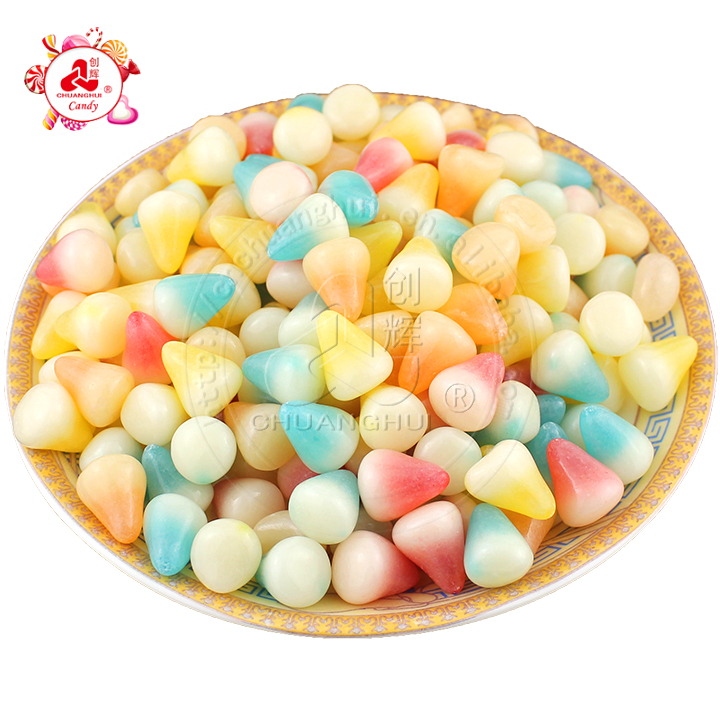 Bulk Small nail shape gummy candy mix fruit soft candy/soft chewy candy/Little Pudding candy