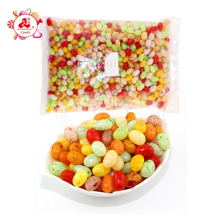 Bulk high quality Colored fruit gummy Salad Jelly Bean candy chewing jelly beans