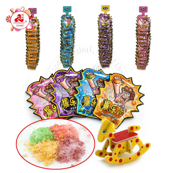 Pop Rocks popping candy with 3d puzzle card toys