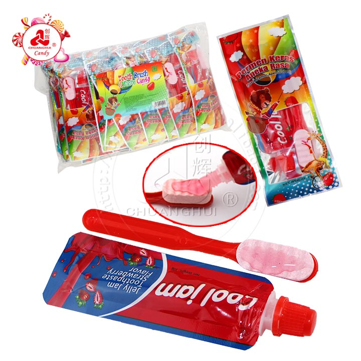 Strawberry flavor pressed candy Toothbrush & Jelly jam Toothpaste candy