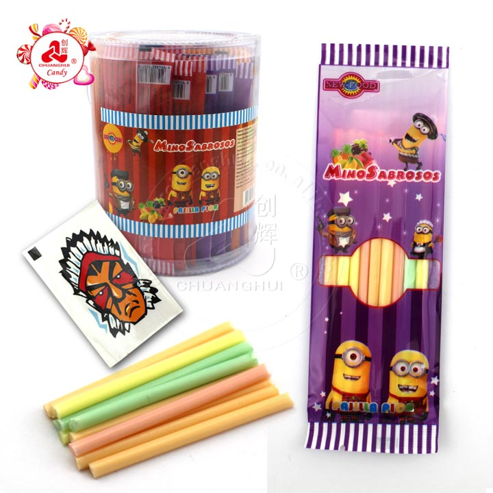 CC stick candy with tattoo ice cream candy