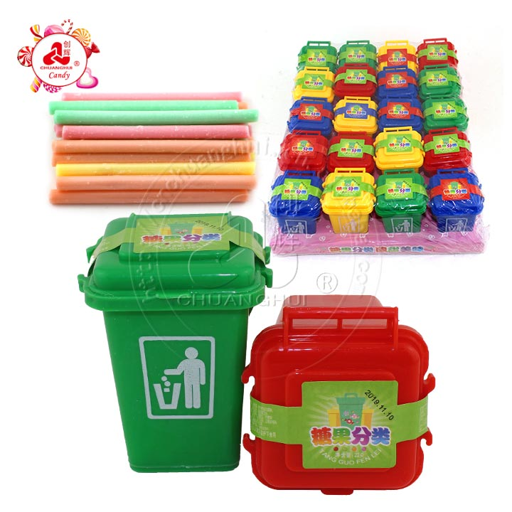 Sanitation expert garbage sorting trash can with 22g CC stick candy