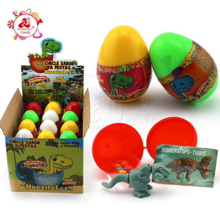 Dinosaur surprise egg toy candy/ Small toys and bubble candy in dinosaur egg