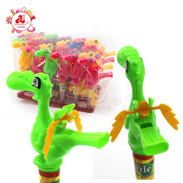 Cartoon Charizard Plastic Toy Candy Dragon with Whistle