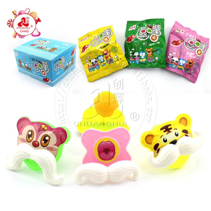 Animal nipple toy with candy