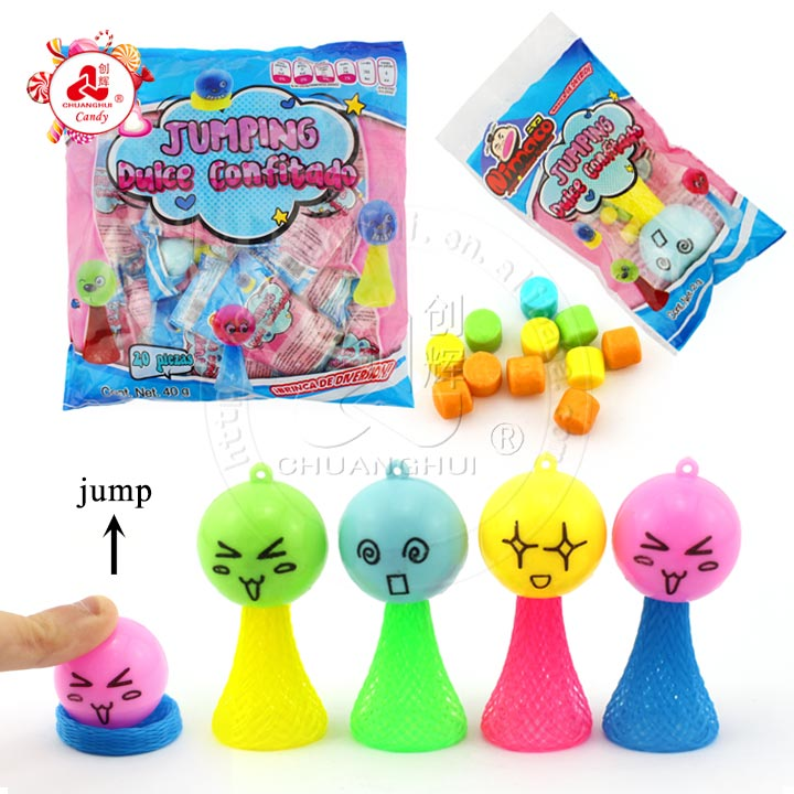 Interesting Children bounce doll toy Spring Jump Toy Candy