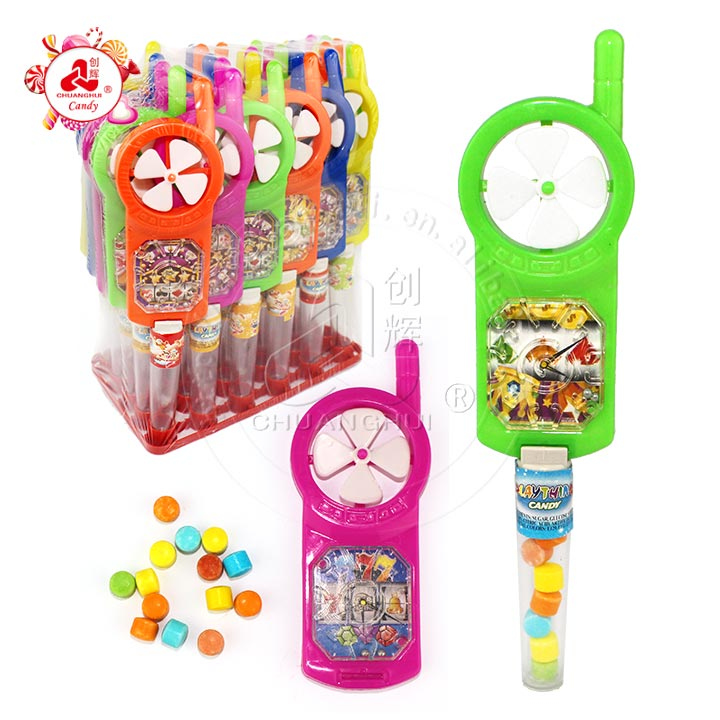 Mini Mobile phone toy candy with fan maze