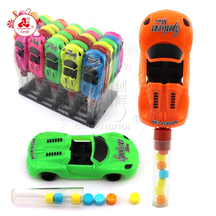 Colorful porsches sports car toy candy