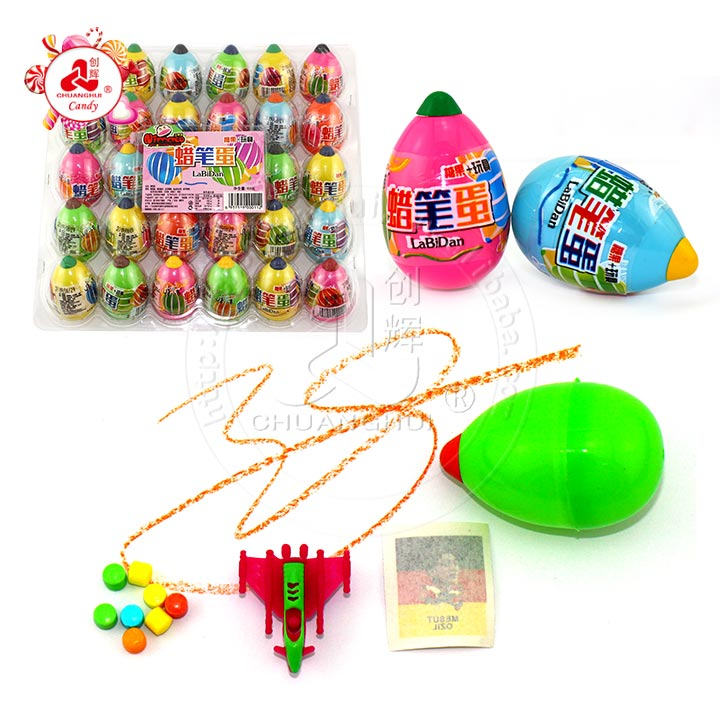2019 Crayon Egg Surprise Candy Toy dans un emballage en PVC