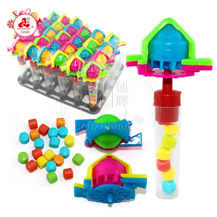 2019 Kids Blowing Whistle Peg-top Toy Gyro Toy candy