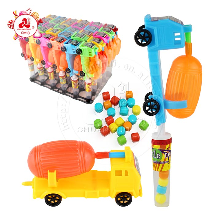 Water gun with Fire Engine truck shape toy candy
