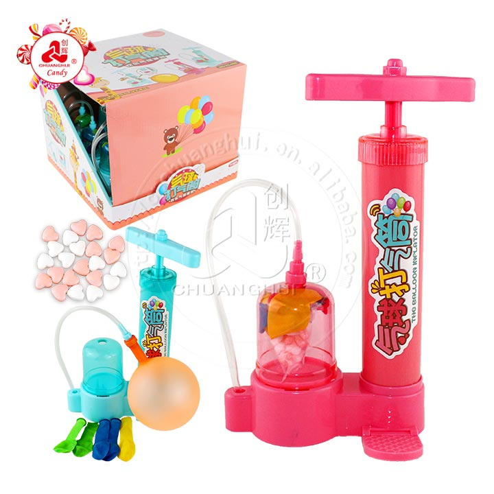 Interesting balloon inflator toy candy