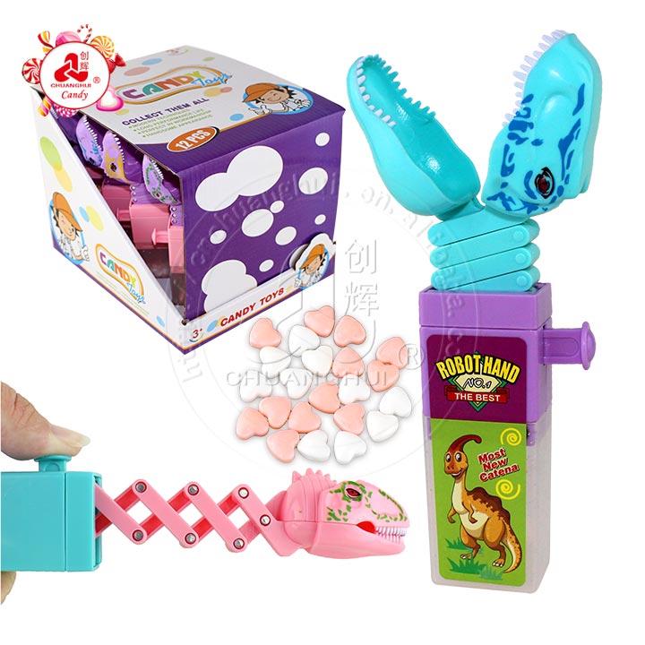 jouet pour enfant tête de dinosaure rétractable pince télescopique jouet bonbon