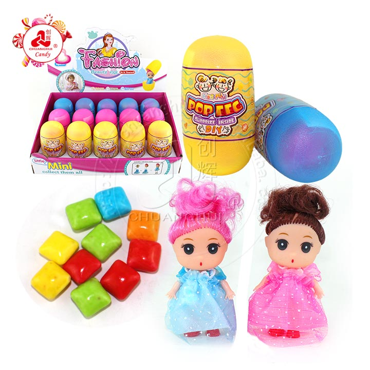 Plastic colorful surprise eggs toy candy with Capsule Exquisite mini dolls