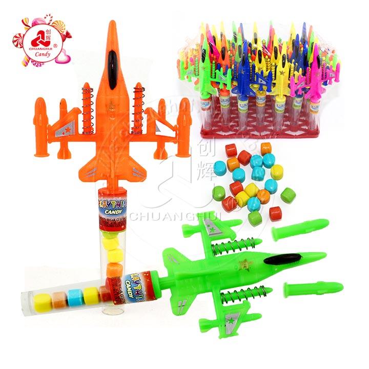 2019 avion de chasse à missiles jouet bonbons / double jouet de combat à la bombe pour enfants