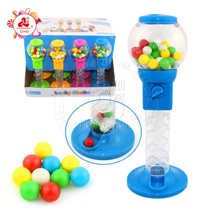 Long rotation candy machine toy candy dispenser lucky shake ball
