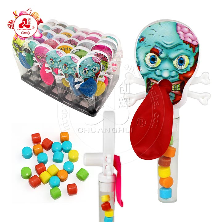 Skull whistle balloon toy candy