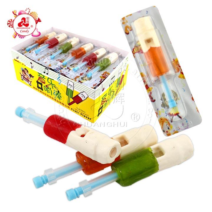 Sucette de musique de confiserie avec bonbon de jouet de sucette de sifflet
