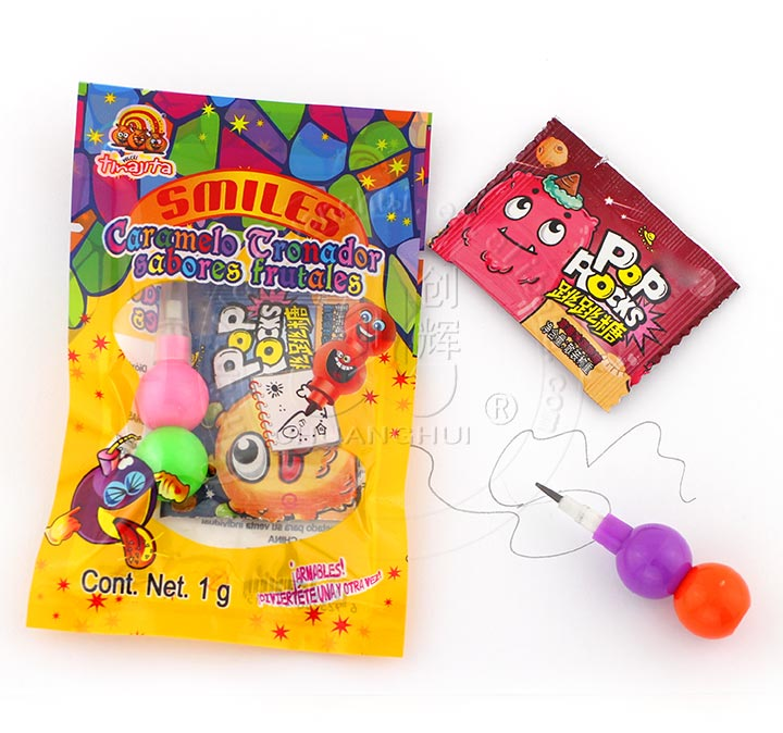 Emoji face String-Link Pencil Toy and popping candy in the bag Manufacturers, Emoji face String-Link Pencil Toy and popping candy in the bag Factory, Supply Emoji face String-Link Pencil Toy and popping candy in the bag