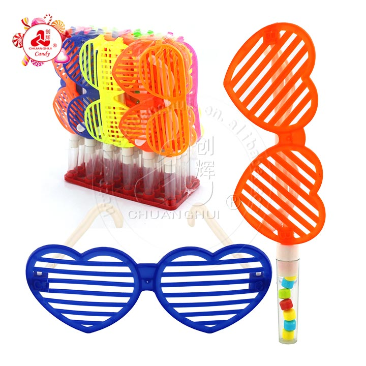 Enfants jouet lunettes de soleil lunettes en forme de coeur jouet bonbons