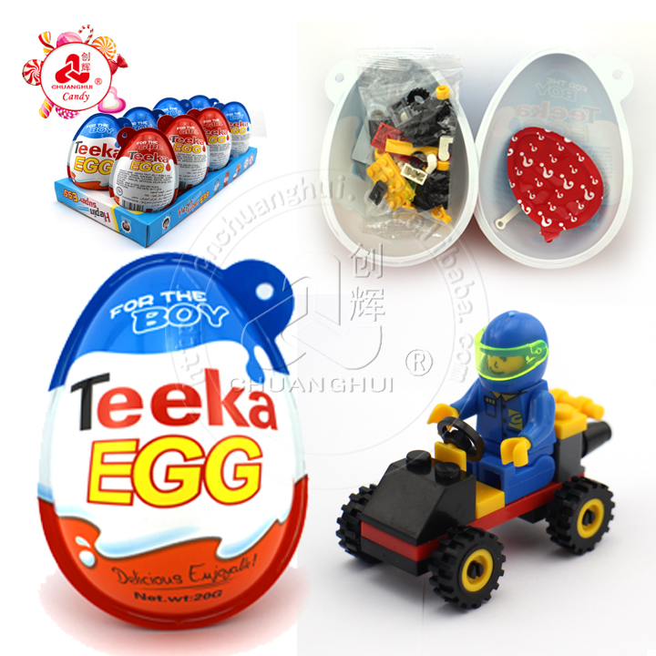 Big Teeka Toy Egg / Building Block Toy With Chocolate Biscuits