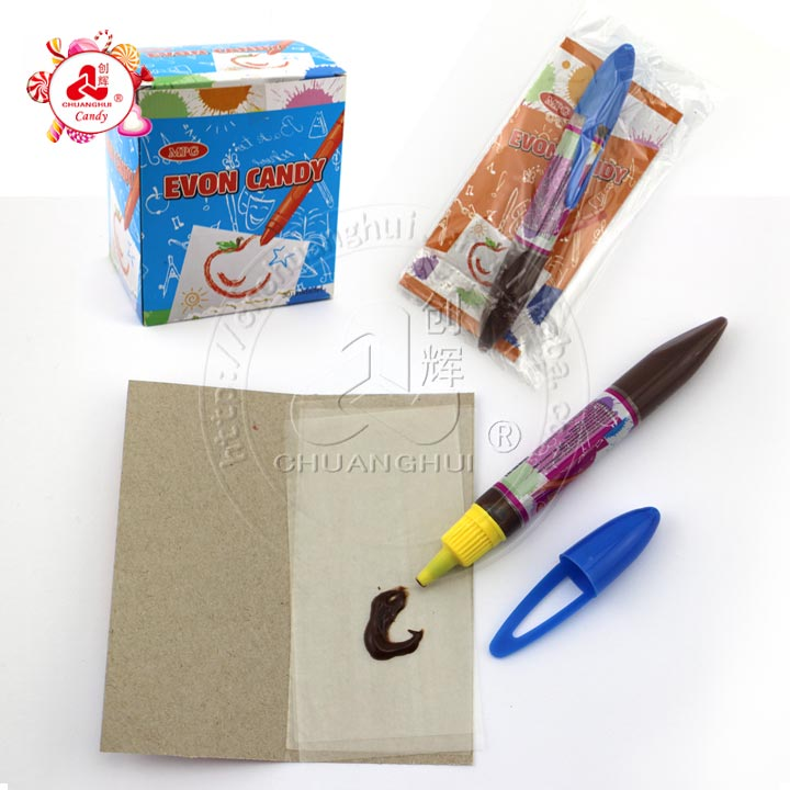 Chocolate pen & sticky rice paper kid's snacks