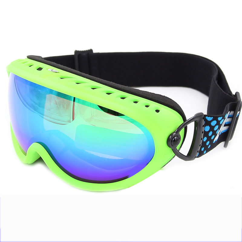 Strap-button Mirror Spherical lens Anti-fog UV400 Snow Goggles SNOW-3600