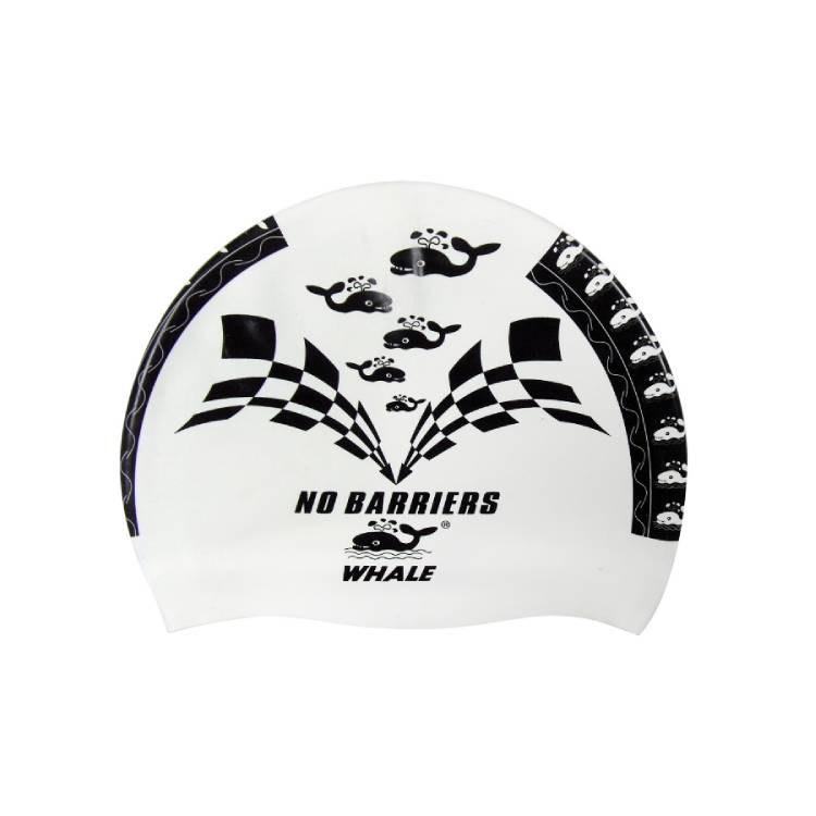 Thick silicone easy dry high elastic unique swimming caps CAP-500