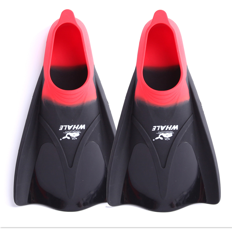 WHALE Wholesale 100% Silicone Short Floating Training Full pocket diving Swimming Fins FN-700