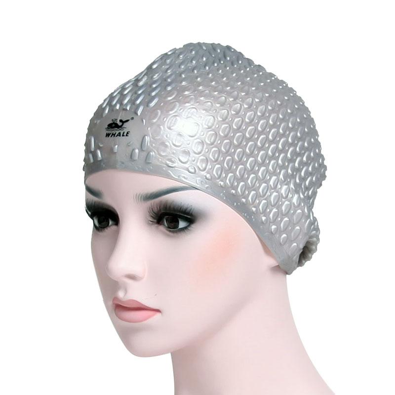 Water-drop ergonomics 3D design long hair swimming caps CAP-1200