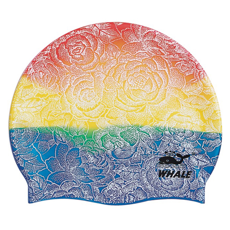100% silicone custom large logo adult man women swimming caps CAP-300