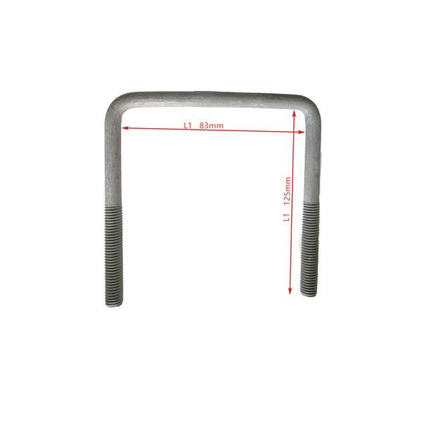 Boulon en U carré en acier 3 1/14 de largeur