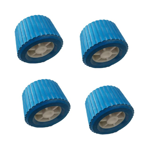 Boat Trailer Parts Wobble Roller Blue Soft