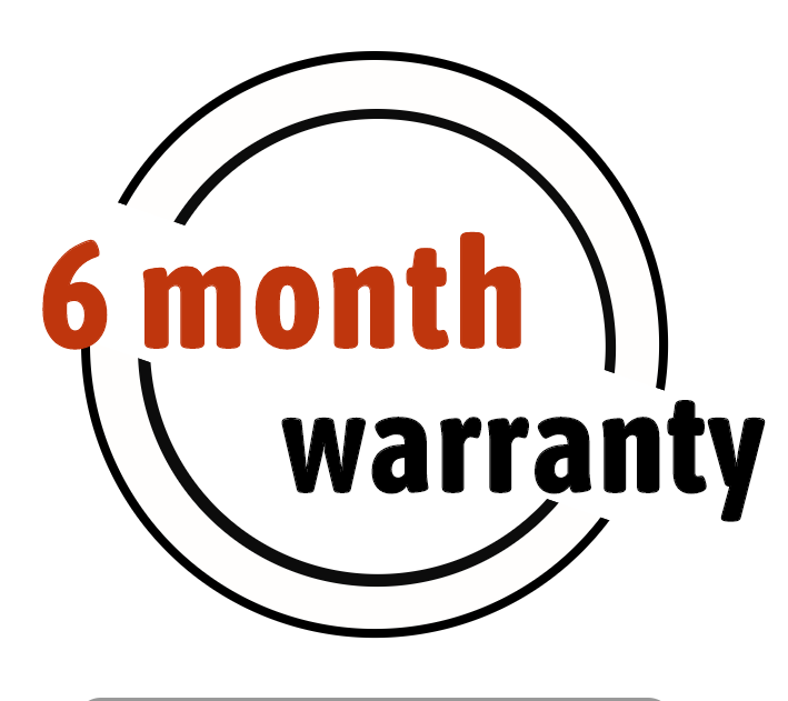 6 month warranty for our products