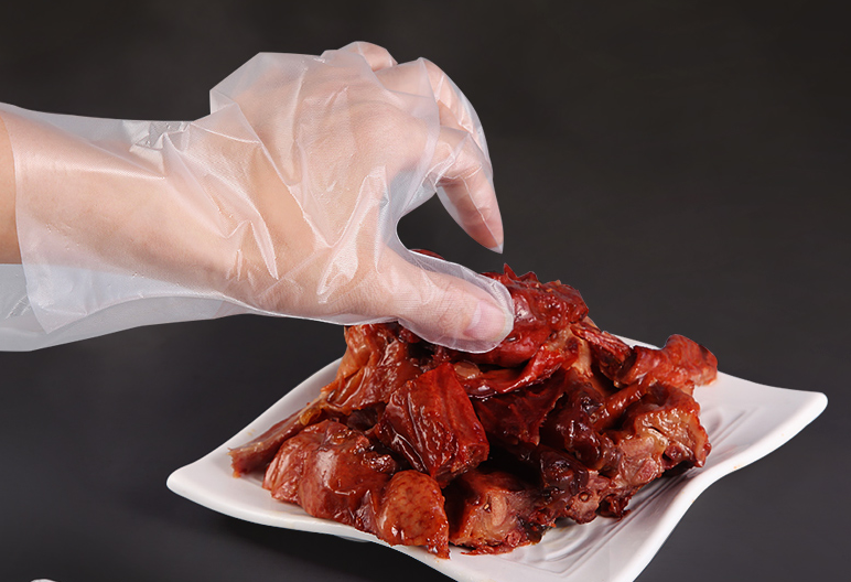 Crayfish Eaten Use Disposable CPE Gloves